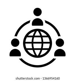 Outsourcing icon vector.