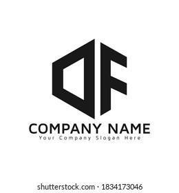 Outstanding DF initial vector monogram letter logo. DF logo. DF letter logo template white background .Creative Modern Triangle vector Letter DF Logo. Creative Hexagon icon