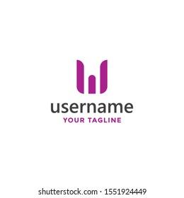 outstanding letter w logo monogram template