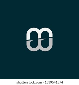 Outstanding professional elegant artistic dark blue and white WM MW initial based Alphabet icon Logo.