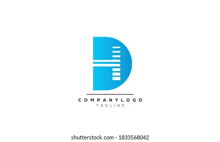 Outstanding professional elegant DH or HD initial based Alphabet icon logo