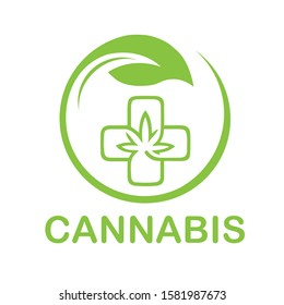 Outstanding professional elegant trendycannabis for medical logo vector hemp leaf icon template with high resolution