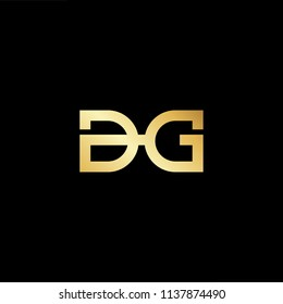 Outstanding professional elegant trendy awesome artistic black and gold color DG GD initial based Alphabet icon logo.