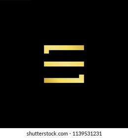 Outstanding professional elegant trendy awesome artistic black and gold color ES SE initial based Alphabet icon logo.