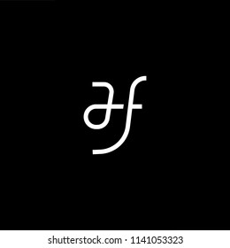 Outstanding professional elegant trendy awesome artistic black and white color HF FH initial based Alphabet icon logo.