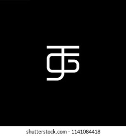 Outstanding professional elegant trendy awesome artistic black and white color JG GJ initial based Alphabet icon logo.