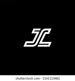 Outstanding professional elegant trendy awesome artistic black and white color JL LJ initial based Alphabet icon logo.