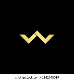Outstanding professional elegant trendy awesome artistic black and gold color LW WL LV VL initial based Alphabet icon logo.
