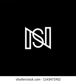 Outstanding professional elegant trendy awesome artistic black and white color NS SN initial based Alphabet icon logo.