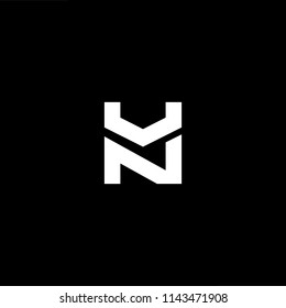 Outstanding professional elegant trendy awesome artistic black and white color NU UN initial based Alphabet icon logo.