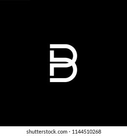 Outstanding professional elegant trendy awesome artistic black and white color PB BP initial based Alphabet icon logo.