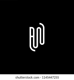 Outstanding professional elegant trendy awesome artistic black and white color RW WR AW WA  initial based Alphabet icon logo.
