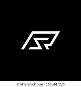 Outstanding professional elegant trendy awesome artistic black and white color RS SR initial based Alphabet icon logo.