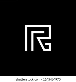 Outstanding professional elegant trendy awesome artistic black and white color R RR initial based Alphabet icon logo.