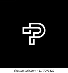 Outstanding professional elegant trendy awesome artistic black and white color TP PT initial based Alphabet icon logo.
