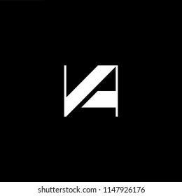 Outstanding professional elegant trendy awesome artistic black and white color VA AV initial based Alphabet icon logo.