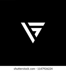 Outstanding professional elegant trendy awesome artistic black and white color VG GV initial based Alphabet icon logo.