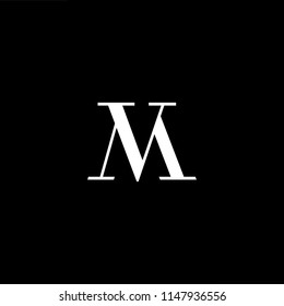 Outstanding professional elegant trendy awesome artistic black and white color MV VM initial based Alphabet icon logo.