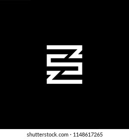 Outstanding professional elegant trendy awesome artistic black and white color ZS SZ initial based Alphabet icon logo.