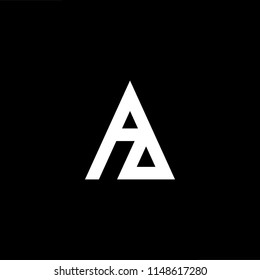 Outstanding professional elegant trendy awesome artistic black and white color ZA AZ initial based Alphabet icon logo.