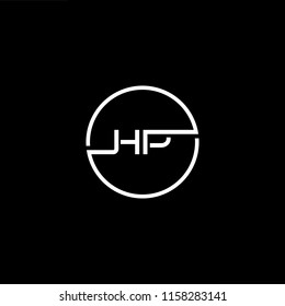 Outstanding professional elegant trendy awesome artistic black and white color HP PH initial based Alphabet icon logo.