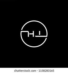 Outstanding professional elegant trendy awesome artistic black and white color HJ JH initial based Alphabet icon logo.