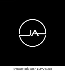 Outstanding professional elegant trendy awesome artistic black and white color JA AJ initial based Alphabet icon logo.