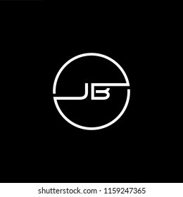 Outstanding professional elegant trendy awesome artistic black and white color JB BJ initial based Alphabet icon logo.