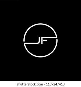 Outstanding professional elegant trendy awesome artistic black and white color JF FJ initial based Alphabet icon logo.
