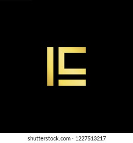 Outstanding professional elegant trendy awesome artistic black and gold color LC CL LS SL initial based Alphabet icon logo.