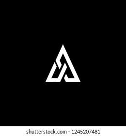 Outstanding professional elegant trendy awesome artistic black and white color AX XA initial based Alphabet icon logo.