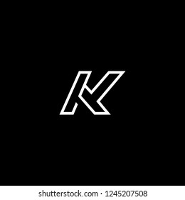 Outstanding professional elegant trendy awesome artistic black and white color K KK KY YK initial based Alphabet icon logo.
