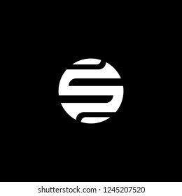 Outstanding professional elegant trendy awesome artistic black and white color S OS SO initial based Alphabet icon logo.