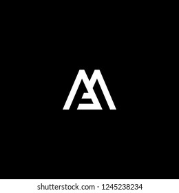 Outstanding professional elegant trendy awesome artistic black and white color MF FM initial based Alphabet icon logo.