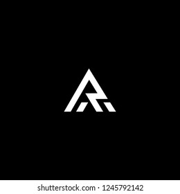 Outstanding professional elegant trendy awesome artistic black and white color AR RA initial based Alphabet icon logo.
