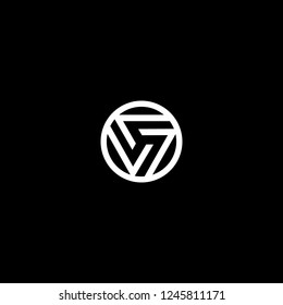 Outstanding professional elegant trendy awesome artistic black and white color V VV VVV OV VO initial based Alphabet icon logo.
