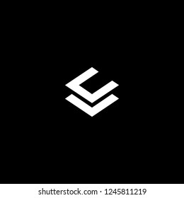 Outstanding professional elegant trendy awesome artistic black and white color LC CL initial based Alphabet icon logo.