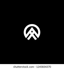 Outstanding professional elegant trendy awesome artistic black and white color AX XA XO OX initial based Alphabet icon logo.