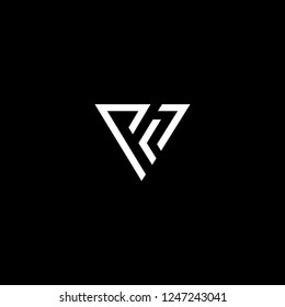 Outstanding professional elegant trendy awesome artistic black and white color PV VP V initial based Alphabet icon logo.