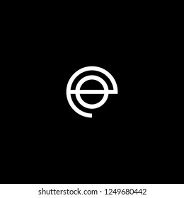 Outstanding professional elegant trendy awesome artistic black and white color EO OE initial based Alphabet icon logo.