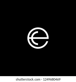 Outstanding professional elegant trendy awesome artistic black and white color EC CE initial based Alphabet icon logo.