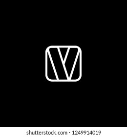 Outstanding professional elegant trendy awesome artistic black and white color VV initial based Alphabet icon logo.