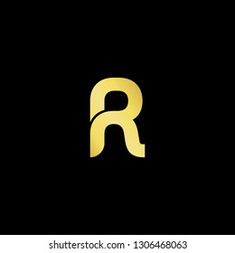 Outstanding professional elegant trendy awesome artistic black and gold color PR RP RN NR initial based Alphabet icon logo.
