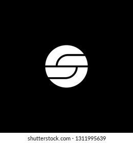 Outstanding professional elegant trendy awesome artistic black and white color GS SG OS SO initial based Alphabet icon logo.