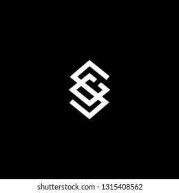 Outstanding professional elegant trendy awesome artistic black and white color SC CS initial based Alphabet icon logo.