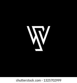 Outstanding professional elegant trendy awesome artistic black and white color WS SW initial based Alphabet icon logo.