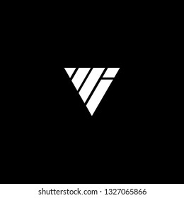 Outstanding professional elegant trendy awesome artistic black and white color VI IV initial based Alphabet icon logo.