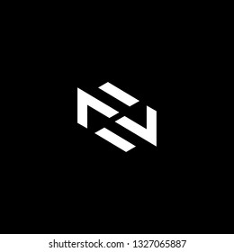 Outstanding professional elegant trendy awesome artistic black and white color ZN NZ initial based Alphabet icon logo.