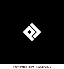 Outstanding professional elegant trendy awesome artistic black and white color PL LP PD DP initial based Alphabet icon logo.
