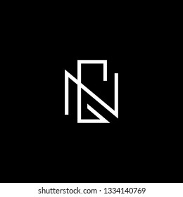Outstanding professional elegant trendy awesome artistic black and white color GN NG initial based Alphabet icon logo.